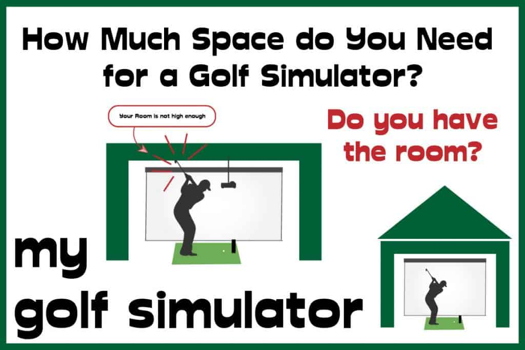 how much space do you need for a golf simulator featured image